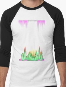 glitchy witchy  Men's Baseball ¾ T-Shirt