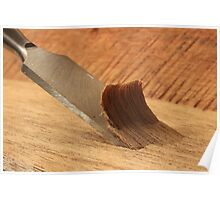 Chisel and Wood Poster