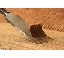 Chisel and Wood Photographic Print