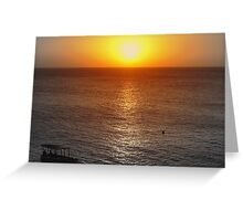 Sunset in Negril  Greeting Card