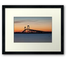 Newport Bridge Sunset, Rhode Island Framed Print