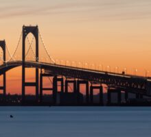 Newport Bridge Sunset, Rhode Island Sticker