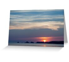 Summer Sunset Silhouette Greeting Card