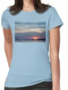 Summer Sunset Silhouette Womens Fitted T-Shirt