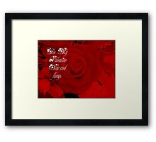Be My Valentine Now and Always Framed Print