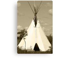 Tepee in the Prairies Canvas Print