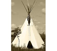 Tepee in the Prairies Photographic Print