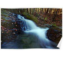 Small Falls Along Sherman Hollow Brook Poster