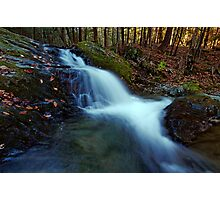 Small Falls Along Sherman Hollow Brook Photographic Print