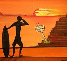 "Surfer  ""Surf Seeker""  Abstract  Original Sold   by EJCairns"