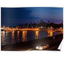 Kailua - Kona Pier after sunset Poster