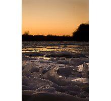 Warm Ice Photographic Print