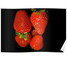 Strawberry Reflexion Poster