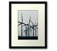 Wind Turbine Parade Framed Print