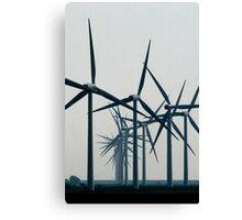 Wind Turbine Parade Canvas Print