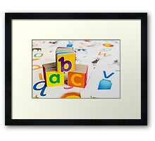 Alphabet Blocks Framed Print