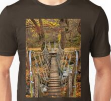 """Autumnal crossing on the """"Path of Love"""" Unisex T-Shirt"""