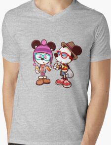 Mickey and Minnie Mens V-Neck T-Shirt
