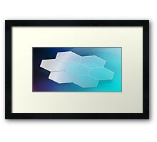Abstract Hexagon Background 3 Framed Print