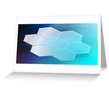 Abstract Hexagon Background 3 Greeting Card