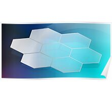 Abstract Hexagon Background 3 Poster