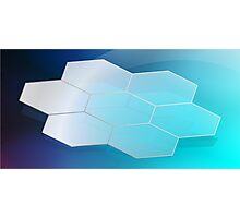 Abstract Hexagon Background 3 Photographic Print