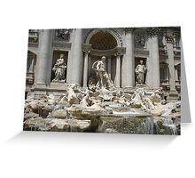 Trevi  Fountain Rome Italy Greeting Card