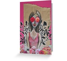 Her eyes were too big for her garden... Greeting Card