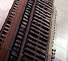 Highrise Reflection by John Donatiu
