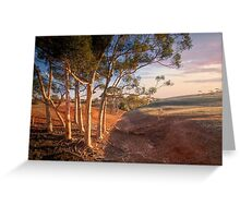 The Red Earth - Red Creek, South Australia Greeting Card
