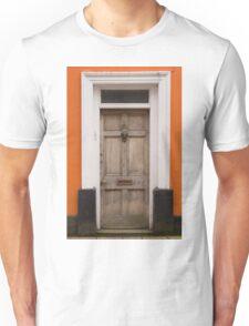 Old Door, Orange Wall Unisex T-Shirt