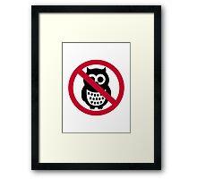 No owls Framed Print