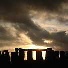 Stonehenge Autumn Sunset by Technohippy