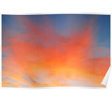 Sherbet Skyscape Poster