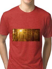 Sunset through the trees Tri-blend T-Shirt