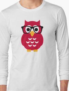 Geek nerd owl Long Sleeve T-Shirt