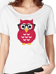 Geek nerd owl Women's Relaxed Fit T-Shirt