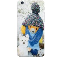 Fred Bear Makes a Snow Pig iPhone Case/Skin