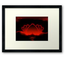 Red Love Lotus Framed Print