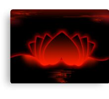 Red Love Lotus Canvas Print