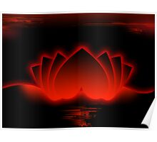 Red Love Lotus Poster