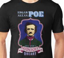 Edgar Allan Poe Portrait with Raven Quote Unisex T-Shirt