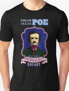 Edgar Allan Poe Portrait with Raven Quote T-Shirt