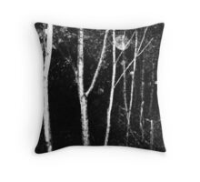 Alone night film grain #1 Throw Pillow