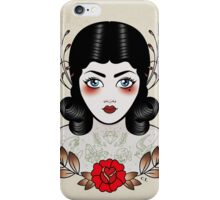 Flapper girl with tats iPhone Case/Skin