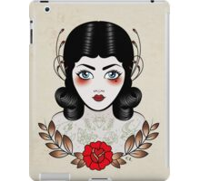 Flapper girl with tats iPad Case/Skin