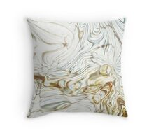 water through fence Throw Pillow