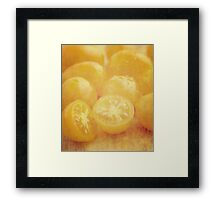 Still life of yellow plum tomatoes Framed Print