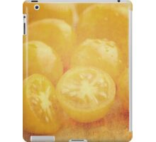 Still life of yellow plum tomatoes iPad Case/Skin