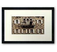 Lebanese Façade Framed Print